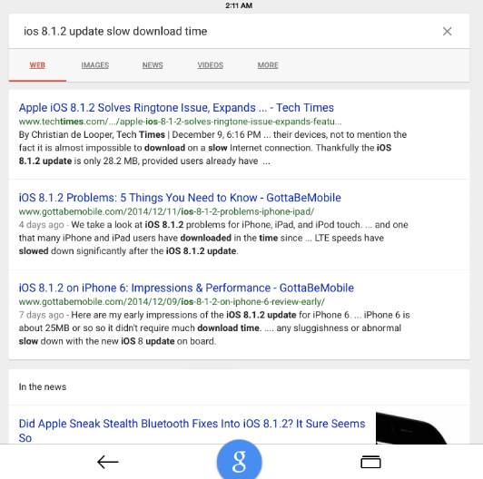 Google Search App For iOS Gets A Major Makeover ' 'Book Mystique Review