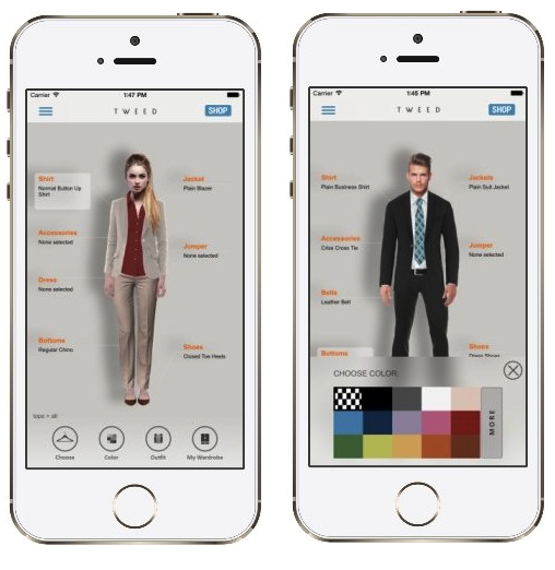 Free Tweed Fashion App To Mix And Match Your Wardrobe