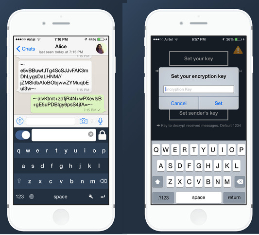 Free iPhone Secure Text Keyboard For Sending Encrypted Private