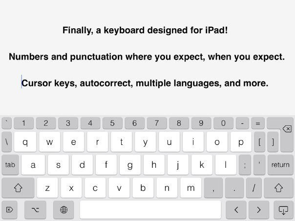 PadKeys: iOS Custom Keyboard Designed For iPad