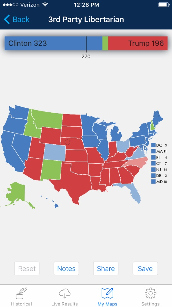 2016 Election Map: Presidential Election App