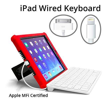 wired keyboards for ipad make ipads serious writing tools apple mfi certified. Black Bedroom Furniture Sets. Home Design Ideas