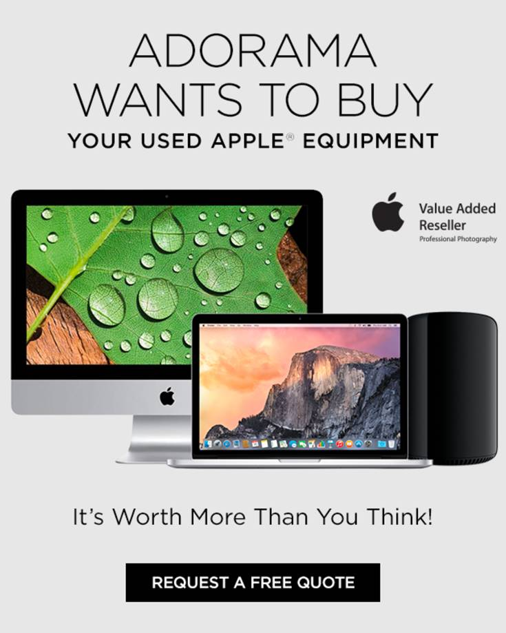 Trade in your old Apple stuff at Adorama and get cash, store