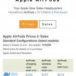 Apple AirPods Price Tracker