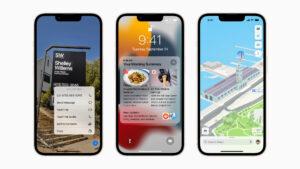 iOS 15 on Apple iPhone 13